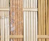 Thai handcraft of bamboo weave pattern.
