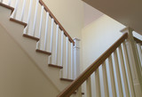 staircase wood white modern classic stairs interior