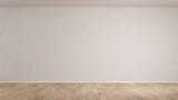 Wand in einem leeren Raum mit Parkett - 172105669