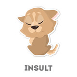 Isolated insulted dog.
