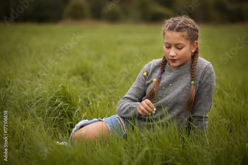 Teenage girl outdoor