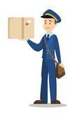 Postman with box. - 172109457