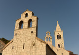 The churches of Saint Mary of grace and of saint Kosmas and Damian in Lastovo town on  island of Lastovo, Croatia - 172113262
