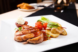 Roasted duck with pear