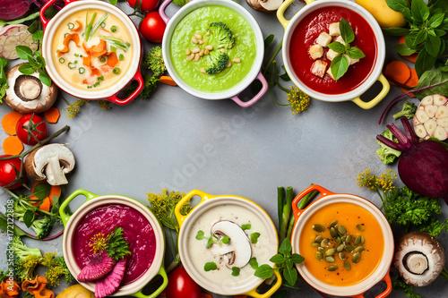 Vegetable cream soups - 172122808