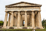 Temple of Hephasteus in Greek Agora,  ancient Athens, Greece - 172128252