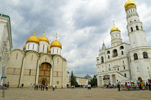 Fotobehang Moskou The Cathedral square of the Moscow Kremlin, Russia.
