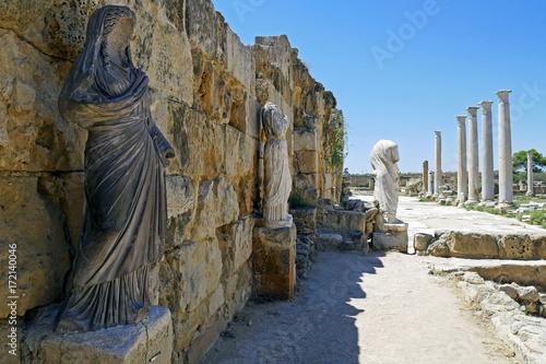 Plexiglas Cyprus Romans ruins of the city of Salamis, near Famagusta, Northern Cyprus.