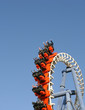 attractions for children and adults in the amusement park