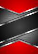 Red and black abstract tech metal design