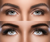 Microblading and eyelash extension - 172168068