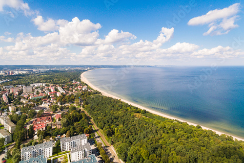 Beach of Gdansk, view from above