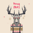 cool christmas deer