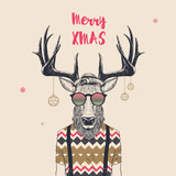cool christmas deer - 172174824