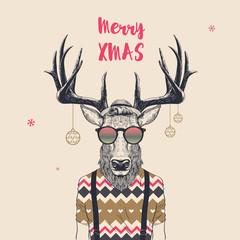 cool christmas deer