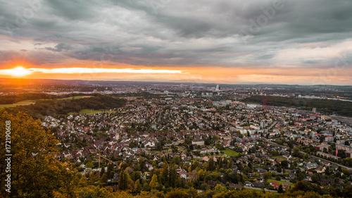Poster Basel switzerland cityscape