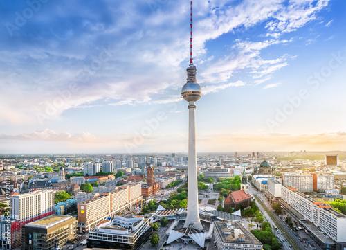 Aluminium Berlijn panoramic view at berlin city center