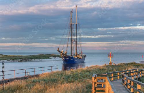 Fotobehang Hert segelboot