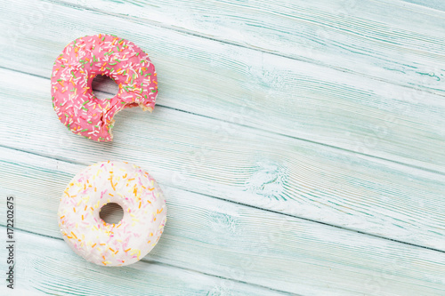 Colorful donuts Poster