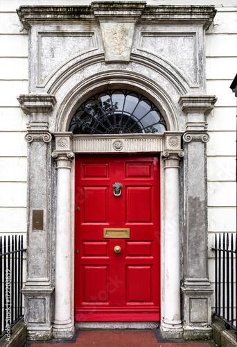 Poster Irland - Dublin - bunte Tür am Merrion Square Park