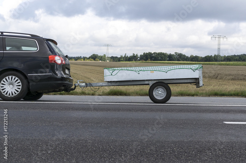 car with trailer - 172213246