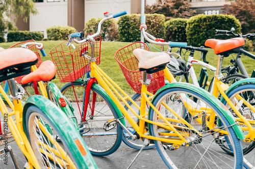 Aluminium Fiets coloful bikes of google campus, california