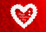 Greeting card for the holiday Valentine's Day with the inscription Happy Valentine's Day. EPS10