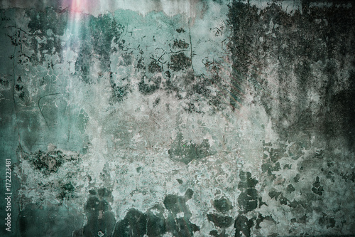 Poster Betonbehang Ruined grunge wall background texture