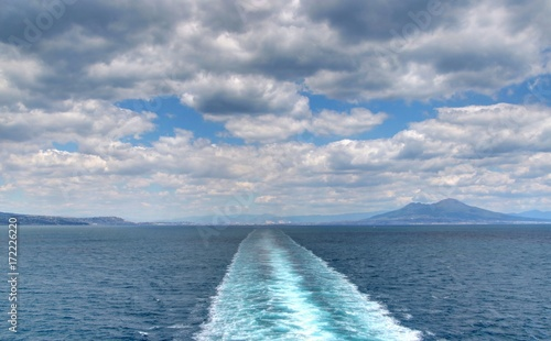 Fotobehang Napels Vesuve et baie de Naples