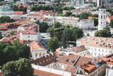 Vilnius old town cityscape panorama, Lithuania