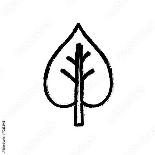 figure beauty ecological and natural tree icon vector illustration