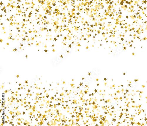 Złote gwiazdy z pustą przestrzenią w środku, lśniący połysk.