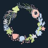 Vector Sea Wreath