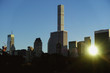 A view from Central Park on Manhattan in New York.