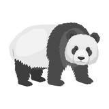 Panda, a bamboo bear. Panda, a rare species of animal single icon in cartoon style vector symbol stock illustration web. - 172248667