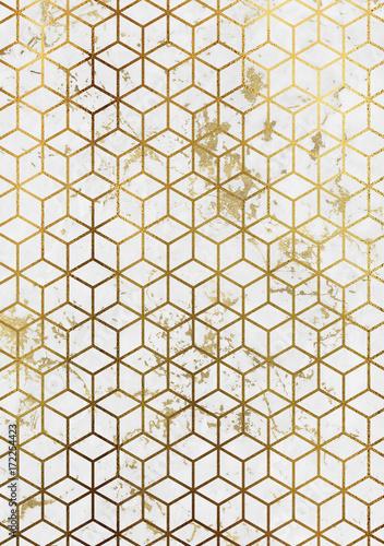 akwarela-marmur-tlo-z-geometrycznym-wzorem-kostki