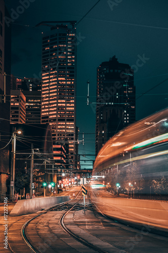 Aluminium Nacht snelweg Light Rail