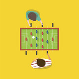 Vector of people playing football game tabletop - 172276046