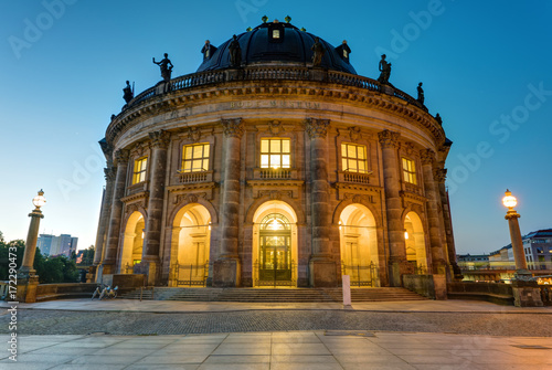 The Bode Museum at the Museum Island in Berlin at dawn Poster