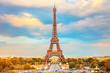 Eiffel Tower at autumn sunny evening, Paris