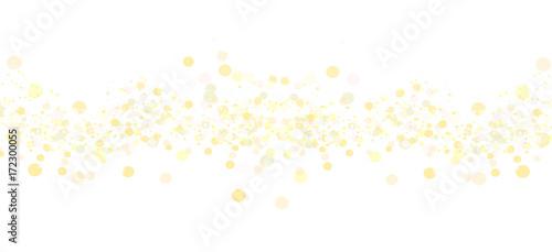 Schnee Konfetti Gold Hintergrund Band Banner Weiß