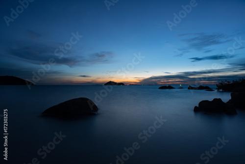 Foto op Plexiglas Zee zonsondergang Sunset view of Koh Phangan Thailand