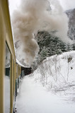 passing by the old train through the winter - 172306632