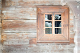 Detail of wooden old window  - 172307015