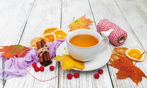 Papiers peints The hot tea with spices