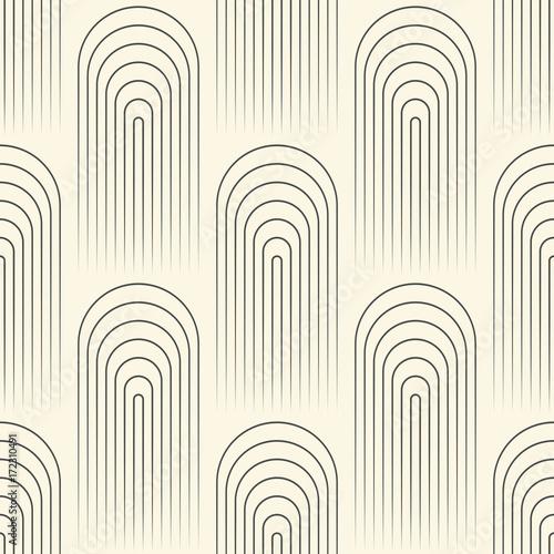 Fototapeta Seamless Circular Wallpaper. Abstract Regular Texture