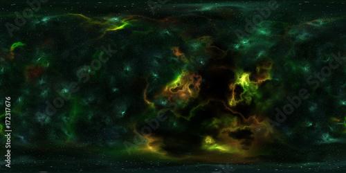 Deep space, stars and nebula, 360 degrees panorama, HDRI high ... on
