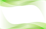 Fototapety Green wave vector design white Background