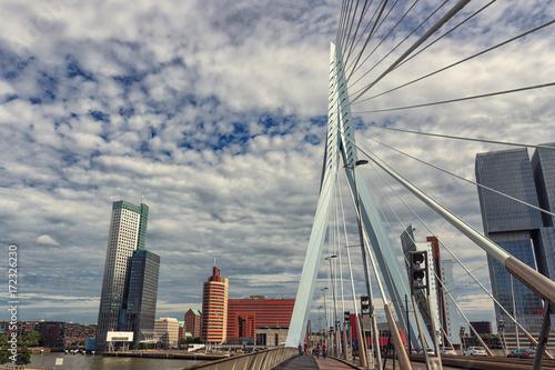Fotobehang Rotterdam Rotterdam. The urban landscape of a modern European city.