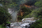 Flowing over the ledge at Wentworth Falls